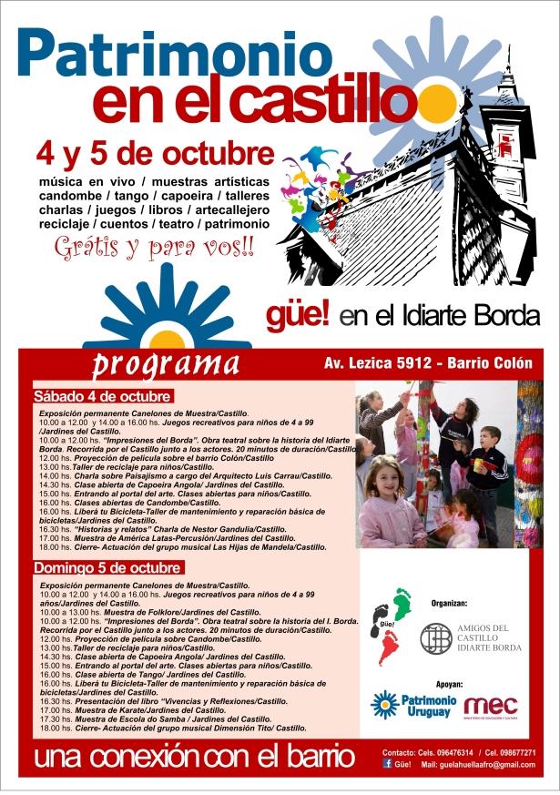 Programa de las actividades del Día del Patrimonio en el Castillo.